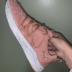 Pink Puma tennis shoes